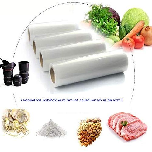"Two 11"" 50' Vacuum Rolls Food Storage and Seal Rolls 11X50Vacuum Bags - Make Own Bag!"
