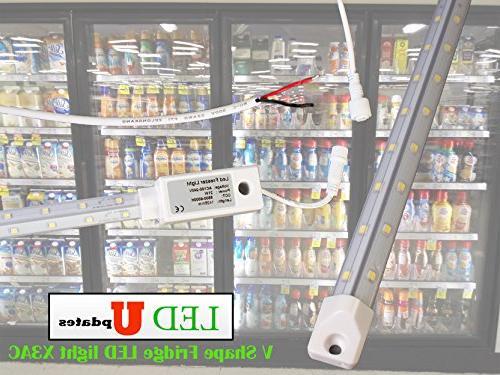 v shape walk cooler fridge