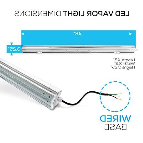 Hyperikon Proof Fixture 4000K ,UL & 4.2, Clear Waterproof, IP65, 120-277v, lighting, Car Wash, Warehouse, in Freezer 4Pack