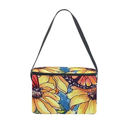 Watercolor Bag Tote Bag for School, Picnic