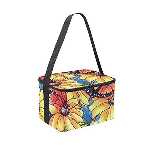 Watercolor Purple Lavender Bag Fiber Bag Picnic