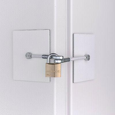 white chest freezer door lock with padlock