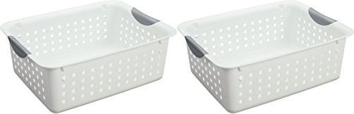 Sterilite White Ultra Basket, 2