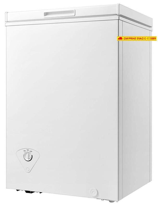 midea WHS-129C1 Chest Freezer, Cubic Feet,