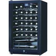 Midea WHS-144W 35-Bottle Free Standing Wine Cooler, Black
