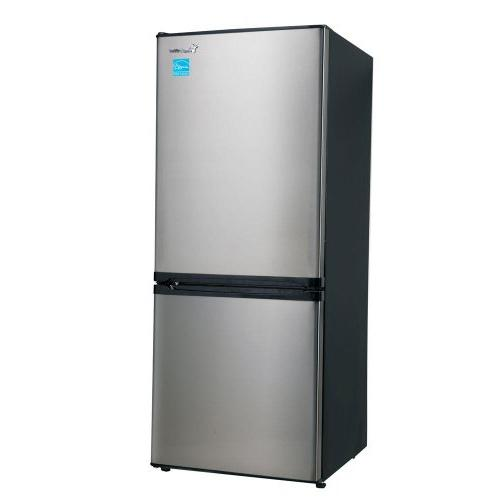wide bottom freezer refrigerator stainless