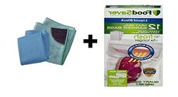 FoodSaver Liquid Block Vacuum Heat-Seal Barrier Bags  with F