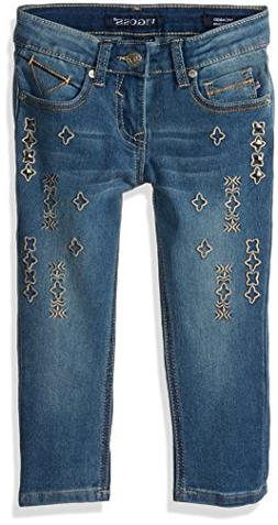 VIGOSS Girls' Little Fashion Crop Skinny Jean, Freezer Blue,