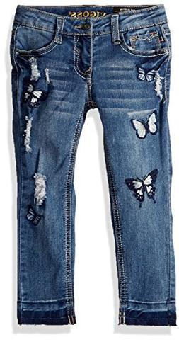 VIGOSS Girls' Little Fashion Jean, Freezer Blue, 5