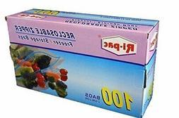 "100 pieces 2 Gallon Size 13x16"" Zip Lock Reclosable Freezer"