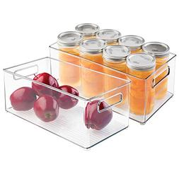 mDesign Refrigerator, Freezer, Pantry Cabinet Organizer Bins