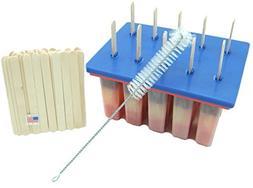 American Ice Pop Maker - Frozen Popsicle Mold - Set of 10 BP