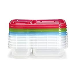Fit & Fresh Meal Prep Container Set with Lids, Set of 6, Por