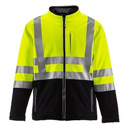 Refrigiwear Men's HiVis Insulated Softshell Jacket - ANSI Cl