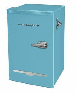 Mini Fridge Retro Blue 3.2 cu ft Home Dorm Basement Patio Co