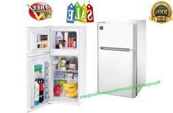 Mini Fridge with Freezer 2 Door Personal Compact Refrigerato