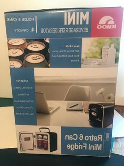 Igloo Mini Retro Beverage Refrigerator Fridge holds 6 cans M