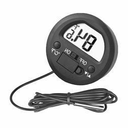 Mini Round Electronic Digital Thermometer Hygrometer Fridge