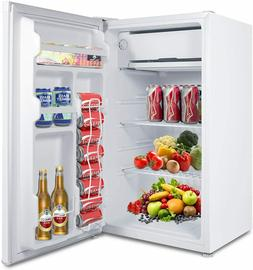 MOOSOO Compact Refrigerator, 3.2 Cu.Ft Mini Fridge with Free