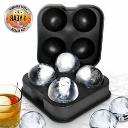 NutriChef NC4IBS Ice Cube Ball Maker, Silicone Mold, Sphere,
