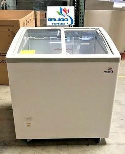 "NEW 31"" Ice Cream Glass Dipping Freezer Chest Showcase Displ"