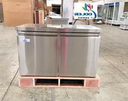 """NEW 48"""" Commercial Under Counter Freezer 2 Door Model TUC48F"""