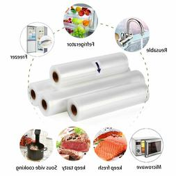 4x Vacuum Sealer Rolls Food Vac Bag Storage & Seal Microwave