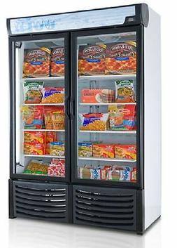 NEW COMMERCIAL 2 GLASS DOOR DISPLAY FREEZER FOR FROZEN FOOD
