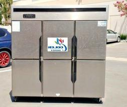 NEW Commercial 6 Door Refrigerator Freezer Combo Restaurant
