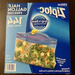 New Ziploc Half  Gallon Freezer Bags 144 Pcs. Limited Editio