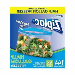 New Ziploc Half Gallon Size Easy Open Freezer Bags 144ct Ori