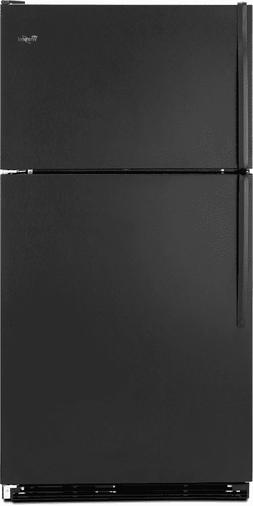 New in Box Black Whirlpool 30 Inch Top-Freezer Refrigerator
