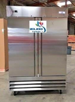 new two door freezer commercial reach in