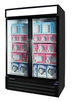 Nor-Lake 45.7 cu ft Freezer Merchandiser Black - 2 Glass Swi