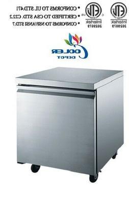 NSF Undercounter freezer 27 ins TUC27F Refrigerator Under