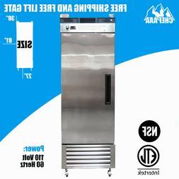 One 1 Door Stainless Steel Restaurant Commercial Freezer Fri