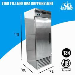 One 1 Door Stainless Steel Restaurant Commercial Reach-in Fr