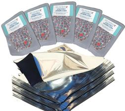One Quart Genuine Mylar Bags  with 300cc Oxygen Absorbers