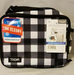 PackIt Freezable CheckerBlack White Classic Lunch Box No Ice