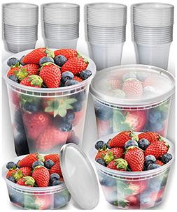 Plastic Containers With Lids Set - Freezer Containers Deli