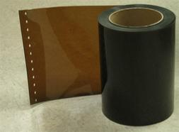 "Plastic Strip Curtain Rolls Amber Weld Color. 12"" wide Gold"