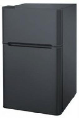 RCA 3.2 cu ft Double Door Compact Refrigerator with Freezer,