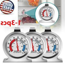 Refrigerator Freezer Thermometer Fridge DIAL Type Stainless