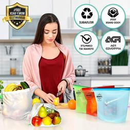 Zip Lock Reusable Food Container Storage Thick Freezer Bag