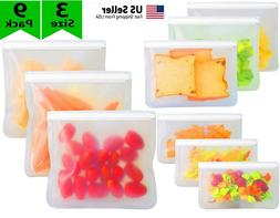 Reusable Silicone Food Fresh Bag Seal Storage Container Free