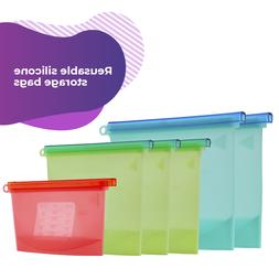 Reusable Silicone Food Storage Leak-Proof Heat-Resistant Fre
