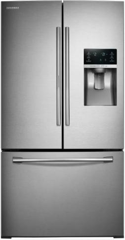 SAMSUNG RF28HDEDBSR French Door Refrigerator, 27.8 Cubic Fee