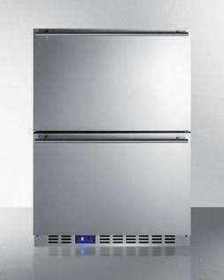 "Summit SCFF532D 24"" Drawer Freezer with 3.54 cu. ft. Capacit"