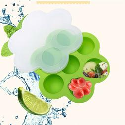 Silicone Egg Bites Molds Baby Food Storage Container and Fre