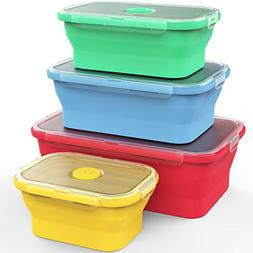 Vremi Silicone Food Storage Containers with BPA Free Airtigh
